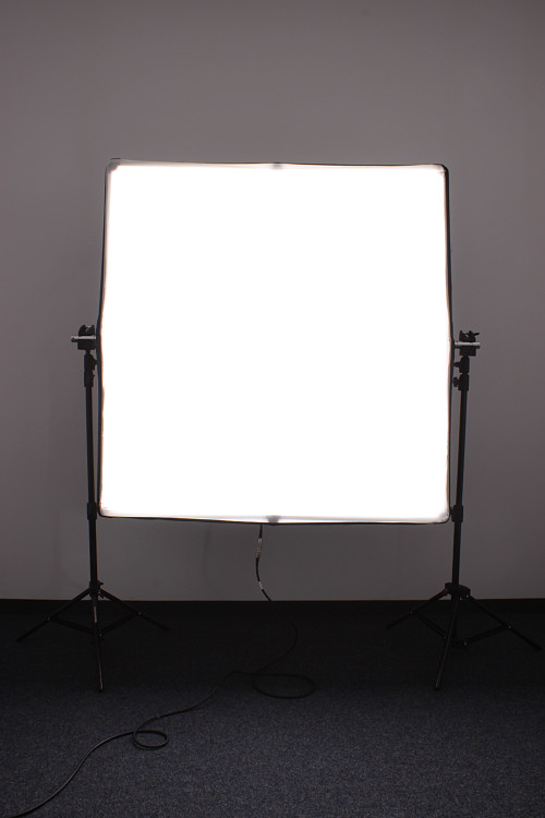 Led softbox mit backcover